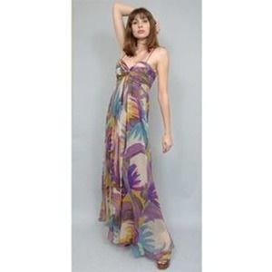 Foley + Corina silk Topanga Twist Maxi dress sz L